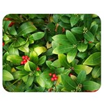 Christmas Season Floral Green Red Skimmia Flower Double Sided Flano Blanket (Medium)  60 x50 Blanket Back
