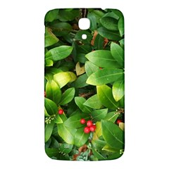 Christmas Season Floral Green Red Skimmia Flower Samsung Galaxy Mega I9200 Hardshell Back Case