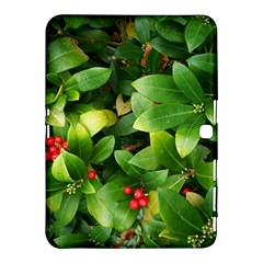 Christmas Season Floral Green Red Skimmia Flower Samsung Galaxy Tab 4 (10 1 ) Hardshell Case