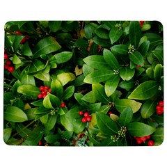 Christmas Season Floral Green Red Skimmia Flower Jigsaw Puzzle Photo Stand (rectangular)
