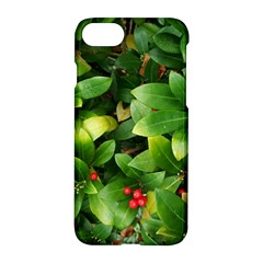 Christmas Season Floral Green Red Skimmia Flower Apple Iphone 7 Hardshell Case
