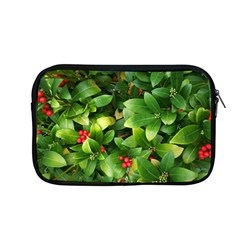 Christmas Season Floral Green Red Skimmia Flower Apple Macbook Pro 13  Zipper Case