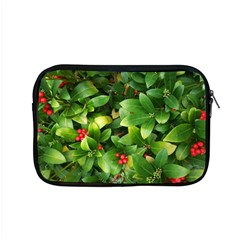 Christmas Season Floral Green Red Skimmia Flower Apple Macbook Pro 15  Zipper Case