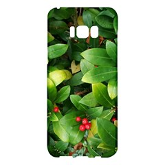 Christmas Season Floral Green Red Skimmia Flower Samsung Galaxy S8 Plus Hardshell Case
