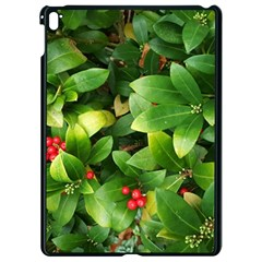 Christmas Season Floral Green Red Skimmia Flower Apple Ipad Pro 9 7   Black Seamless Case