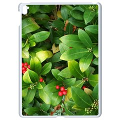 Christmas Season Floral Green Red Skimmia Flower Apple Ipad Pro 9 7   White Seamless Case
