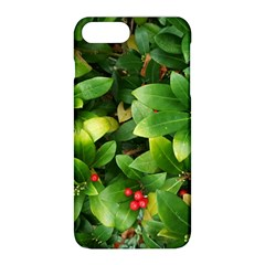 Christmas Season Floral Green Red Skimmia Flower Apple Iphone 8 Plus Hardshell Case