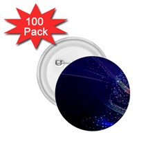 Christmas Tree Blue Stars Starry Night Lights Festive Elegant 1 75  Buttons (100 Pack)