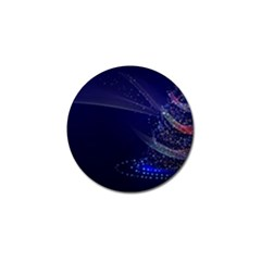 Christmas Tree Blue Stars Starry Night Lights Festive Elegant Golf Ball Marker (4 Pack)