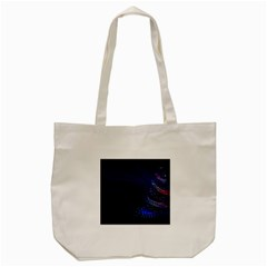 Christmas Tree Blue Stars Starry Night Lights Festive Elegant Tote Bag (cream)