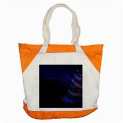 Christmas Tree Blue Stars Starry Night Lights Festive Elegant Accent Tote Bag