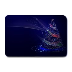 Christmas Tree Blue Stars Starry Night Lights Festive Elegant Plate Mats