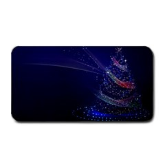 Christmas Tree Blue Stars Starry Night Lights Festive Elegant Medium Bar Mats