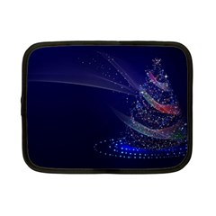 Christmas Tree Blue Stars Starry Night Lights Festive Elegant Netbook Case (small)