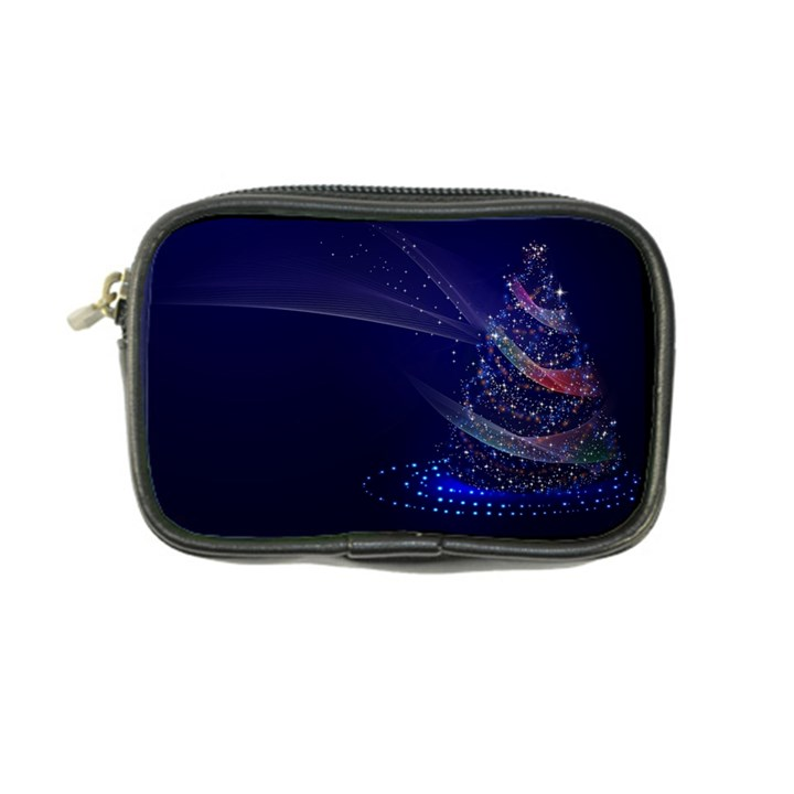 Christmas Tree Blue Stars Starry Night Lights Festive Elegant Coin Purse