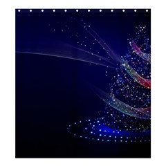 Christmas Tree Blue Stars Starry Night Lights Festive Elegant Shower Curtain 66  X 72  (large)