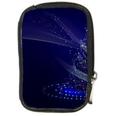 Christmas Tree Blue Stars Starry Night Lights Festive Elegant Compact Camera Cases