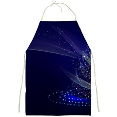 Christmas Tree Blue Stars Starry Night Lights Festive Elegant Full Print Aprons
