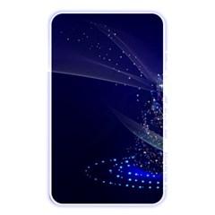 Christmas Tree Blue Stars Starry Night Lights Festive Elegant Memory Card Reader