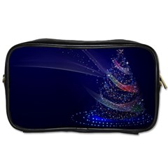 Christmas Tree Blue Stars Starry Night Lights Festive Elegant Toiletries Bags