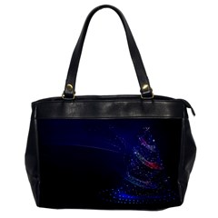 Christmas Tree Blue Stars Starry Night Lights Festive Elegant Office Handbags