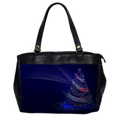 Christmas Tree Blue Stars Starry Night Lights Festive Elegant Office Handbags (2 Sides)