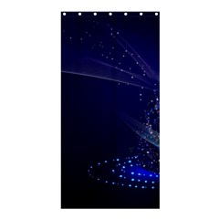 Christmas Tree Blue Stars Starry Night Lights Festive Elegant Shower Curtain 36  X 72  (stall)