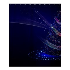 Christmas Tree Blue Stars Starry Night Lights Festive Elegant Shower Curtain 60  X 72  (medium)