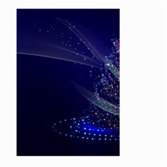 Christmas Tree Blue Stars Starry Night Lights Festive Elegant Large Garden Flag (two Sides)