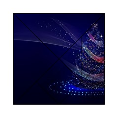 Christmas Tree Blue Stars Starry Night Lights Festive Elegant Acrylic Tangram Puzzle (6  X 6 )