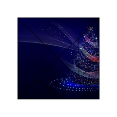 Christmas Tree Blue Stars Starry Night Lights Festive Elegant Acrylic Tangram Puzzle (4  X 4 )