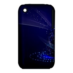 Christmas Tree Blue Stars Starry Night Lights Festive Elegant Iphone 3s/3gs