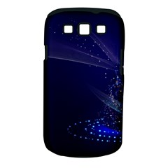 Christmas Tree Blue Stars Starry Night Lights Festive Elegant Samsung Galaxy S Iii Classic Hardshell Case (pc+silicone)