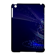 Christmas Tree Blue Stars Starry Night Lights Festive Elegant Apple Ipad Mini Hardshell Case (compatible With Smart Cover)