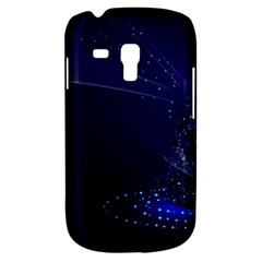 Christmas Tree Blue Stars Starry Night Lights Festive Elegant Galaxy S3 Mini