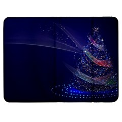 Christmas Tree Blue Stars Starry Night Lights Festive Elegant Samsung Galaxy Tab 7  P1000 Flip Case