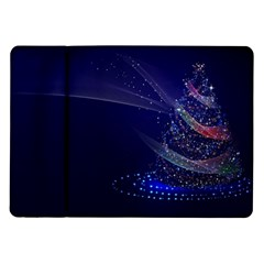 Christmas Tree Blue Stars Starry Night Lights Festive Elegant Samsung Galaxy Tab 10 1  P7500 Flip Case
