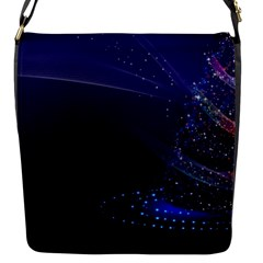 Christmas Tree Blue Stars Starry Night Lights Festive Elegant Flap Messenger Bag (s)