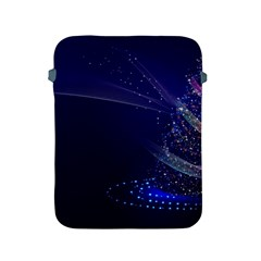 Christmas Tree Blue Stars Starry Night Lights Festive Elegant Apple Ipad 2/3/4 Protective Soft Cases