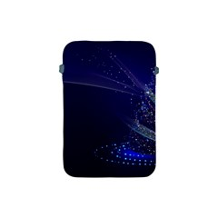 Christmas Tree Blue Stars Starry Night Lights Festive Elegant Apple Ipad Mini Protective Soft Cases