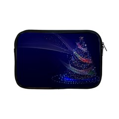 Christmas Tree Blue Stars Starry Night Lights Festive Elegant Apple Ipad Mini Zipper Cases