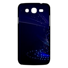 Christmas Tree Blue Stars Starry Night Lights Festive Elegant Samsung Galaxy Mega 5 8 I9152 Hardshell Case