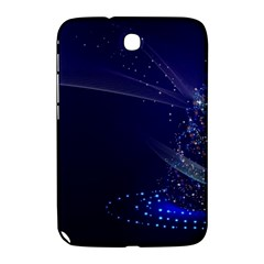 Christmas Tree Blue Stars Starry Night Lights Festive Elegant Samsung Galaxy Note 8 0 N5100 Hardshell Case