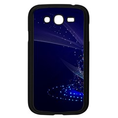 Christmas Tree Blue Stars Starry Night Lights Festive Elegant Samsung Galaxy Grand Duos I9082 Case (black)