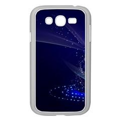 Christmas Tree Blue Stars Starry Night Lights Festive Elegant Samsung Galaxy Grand Duos I9082 Case (white)