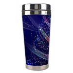 Christmas Tree Blue Stars Starry Night Lights Festive Elegant Stainless Steel Travel Tumblers Right
