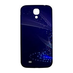 Christmas Tree Blue Stars Starry Night Lights Festive Elegant Samsung Galaxy S4 I9500/i9505  Hardshell Back Case