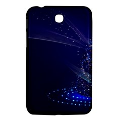 Christmas Tree Blue Stars Starry Night Lights Festive Elegant Samsung Galaxy Tab 3 (7 ) P3200 Hardshell Case