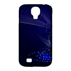 Christmas Tree Blue Stars Starry Night Lights Festive Elegant Samsung Galaxy S4 Classic Hardshell Case (pc+silicone)