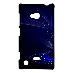 Christmas Tree Blue Stars Starry Night Lights Festive Elegant Nokia Lumia 720